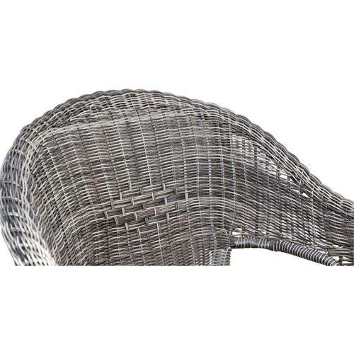 KÖLLE Geflechtsessel 'Solar Collection' silber, Geflecht grau