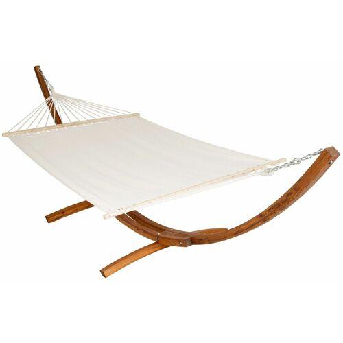 TECTAKE Hängematte XXL mit Holzgestell für 2 Personen - Sitzhängematte,
