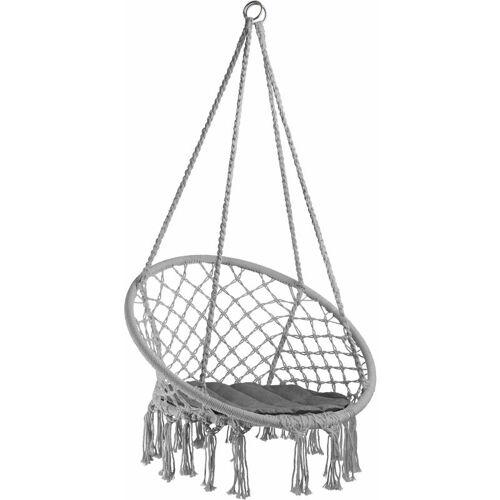 TECTAKE Hängesessel Jane - Sitzhängematte, Hängematte, Hängestuhl - grau