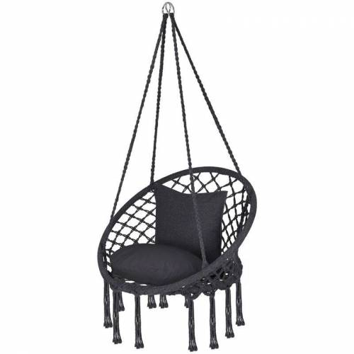SEKEY Hängesessel mit 2 Kissen - Sitzhängematte, Hängematte, Hängestuhl,