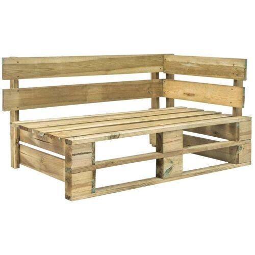 Hommoo Garten-Paletten-Eckbank Holz Grün VD28883