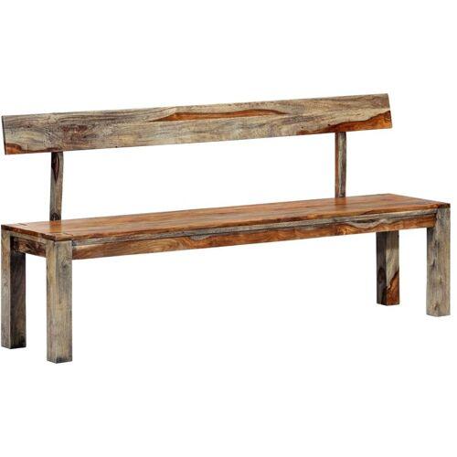 HOMMOO Sitzbank 160 cm Grau Sheesham Massivholz VD13858 - Hommoo