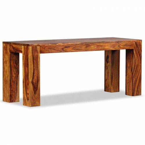 HOMMOO Sitzbank Sheesham Massivholz 110x35x45 cm VD10472 - Hommoo
