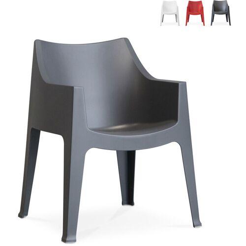 SCAB DESIGN Innen- und Außen Stuhl mit Armlehnen Scab Coccolona   Schwarz