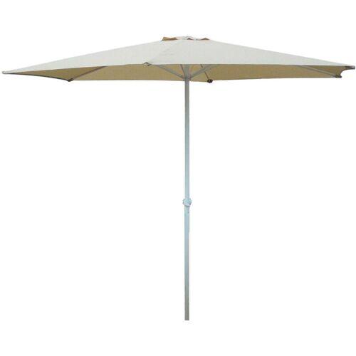 DEMA Marktschirm Sonnenschirm 300 cm beige Kurbel Gartenschirm Schirm