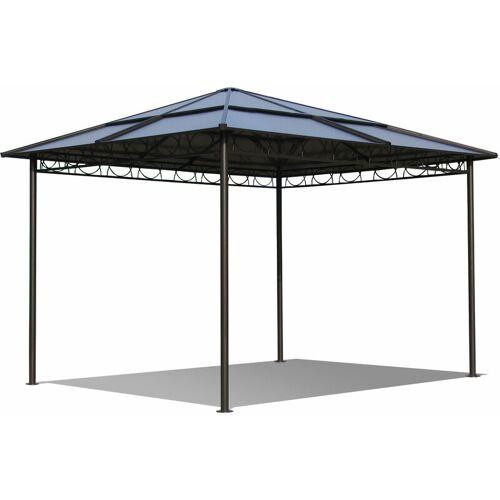 Quick-Star Metall Garten Hardtop Pavillon 3x3m Doppelstegplatten Polycarbonat Dach