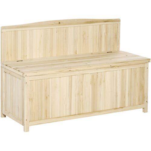 Outsunny ® Gartenbank mit Stauraum Truhenbank Sitzbank 2-Sitzer 250 kg