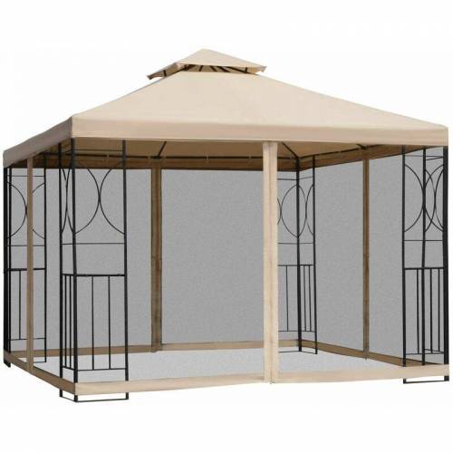 Outsunny® Gartenpavillon Pavillon Festzelt Partyzelt wetterfest Zelt