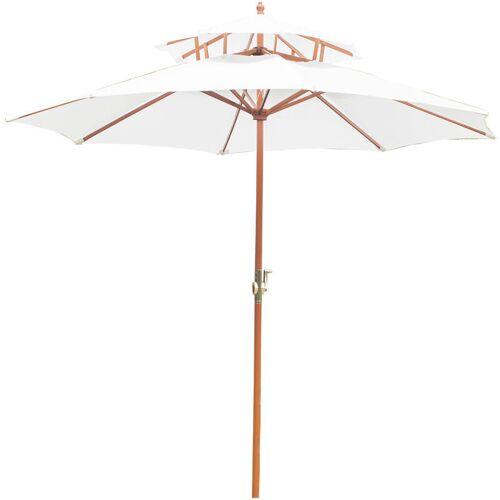 Outsunny ® Holz Sonnenschirm Gartenschirm Balkonschirm Doppeldach 2,7m