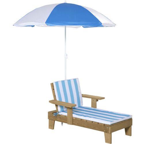 Outsunny® Kinder Sonnenliege mit Sonnenschirm Gartenliege Relaxliege