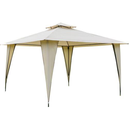 Outsunny® Pavillon Partyzelt mit Doppeldach 3,5x3,5x2,7m Festzelt Stahl