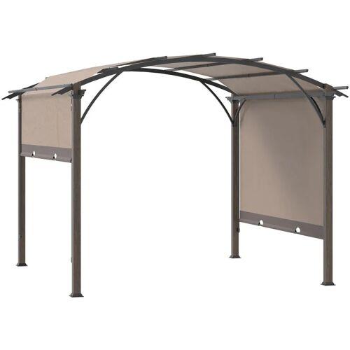 Outsunny® Pavillon Pergola mit einstellbarem Stoffdach UV+50 Wasserfest