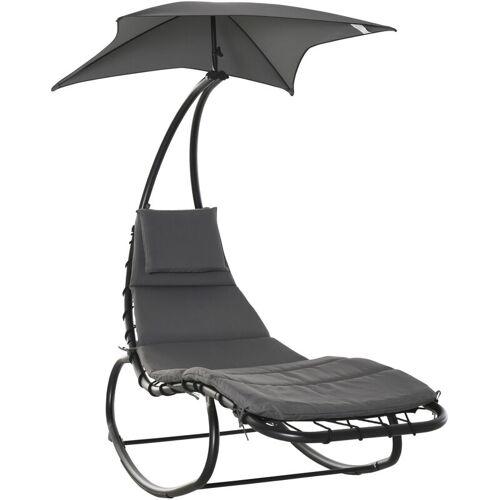 Outsunny® Schaukelliege Schaukelstuhl Relaxliege mit Dach Garten Balkon