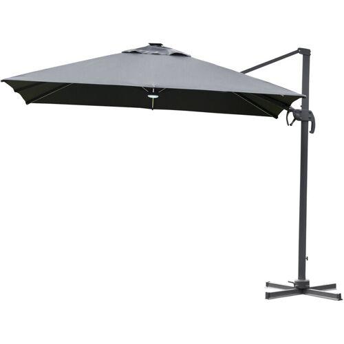 Outsunny® Sonnenschirm 3x3m Ampelschirm Alu Roma Schirm mit