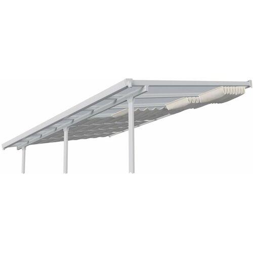 Palram Sonnensegel Terrassenüberdachung 300x610 cm Beschattung weiß