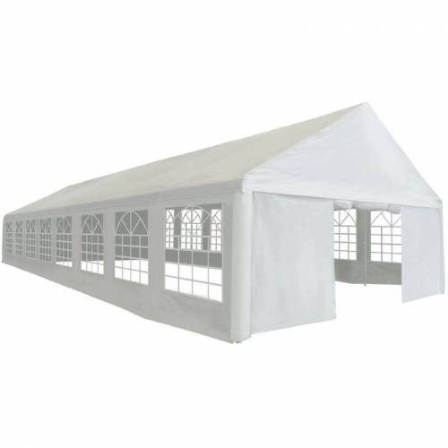 VIDAXL Partyzelt PE 6x16 m Weiß