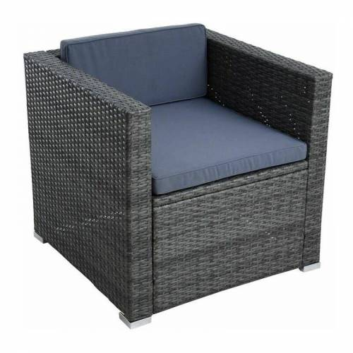 ESTEXO Polyrattan Loungesessel Gartensessel Rattan Sessel Gartenstuhl