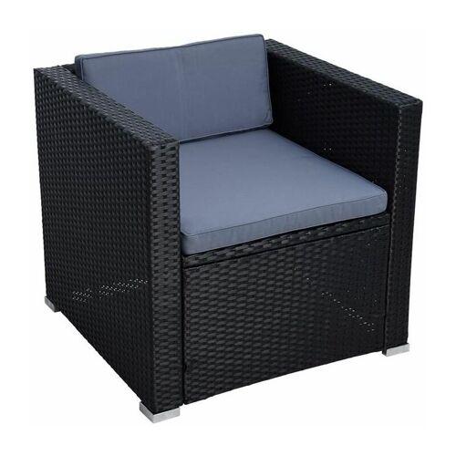 ESTEXO Polyrattan Loungesessel Gartensessel Rattan Sessel Gartenstuhl Stuhl