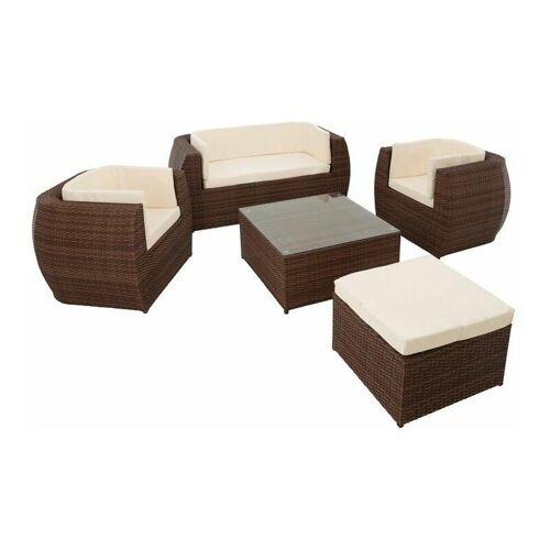 ESTEXO Polyrattan Sitzgruppe Gartenmöbel Set Essgruppe Rattan Lounge Tisch