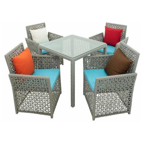 ESTEXO Polyrattan Sitzgruppe Gartenmöbel Set Rattan Essgruppe Tisch Stuhl