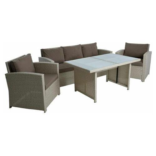 ESTEXO Polyrattan Sitzgruppe Gartenmöbel Set Rattanlounge Lounge Set Essgruppe
