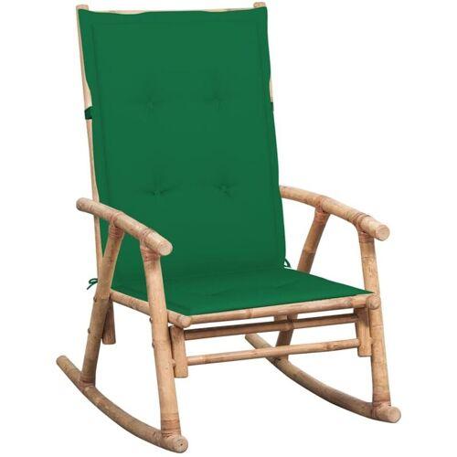 Vidaxl - Schaukelstuhl mit Auflage Bambus