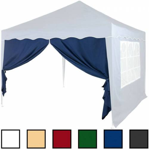 MAXSTORE Seitenwand ohne Fenster Blau