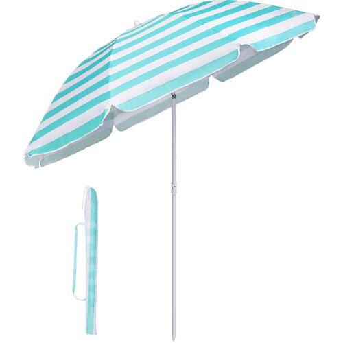Sekey - Sonnenschirm mit Abdeckhauben 160 cm Marktschirm Gartenschirm