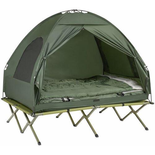 SOBUY Feldbett 4in1-Zelt mit Campingliege Schlafsack Luftmatratze,2 Personen