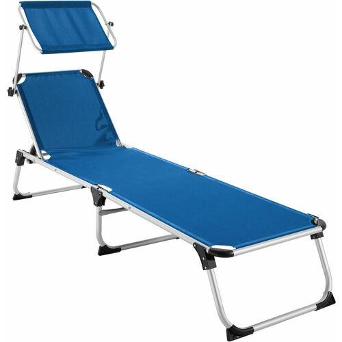 TECTAKE Sonnenliege Aurelie - Strandliege, Beachliege, Sonnenliege - blau