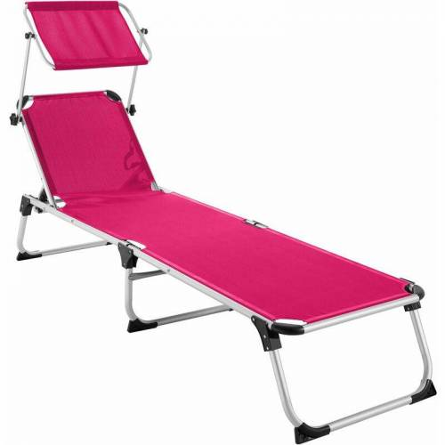 TECTAKE Sonnenliege Aurelie - Strandliege, Beachliege, Sonnenliege - pink