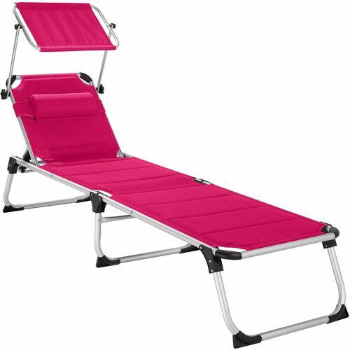 TECTAKE Sonnenliege Lorella - Strandliege, Beachliege, Sonnenliege - pink