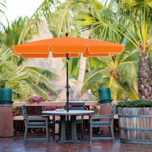 SONGMICS Sonnenschirm für Balkon, rechteckiger Gartenschirm, 200 x 125 cm,