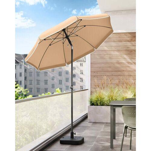SONGMICS Sonnenschirm, 200cm, Marktschirm, Sonnenschutz, achteckiger