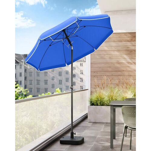 SONGMICS Sonnenschirm, 200 cm, Sonnenschutz, achteckiger Strandschirm aus