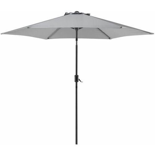 Beliani - Sonnenschirm Grau Polyester/Aluminium Ø 270 cm Terrasse