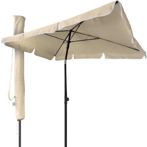 VOUNOT Sonnenschirm für Balkon, 200 × 125 cm, Knickbarer Balkonschirm