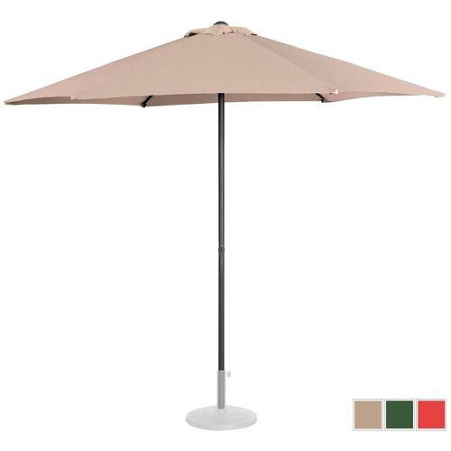 UNIPRODO Sonnenschirm groß Sonnenschirm Terrasse Gartenschirm creme sechseckig ?