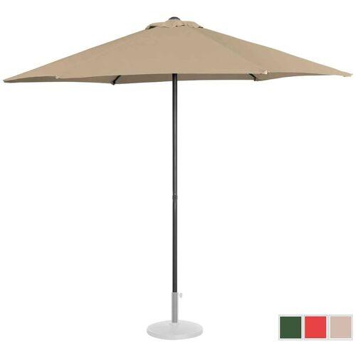 UNIPRODO Sonnenschirm groß Sonnenschirm Terrasse Gartenschirm taupe sechseckig ?