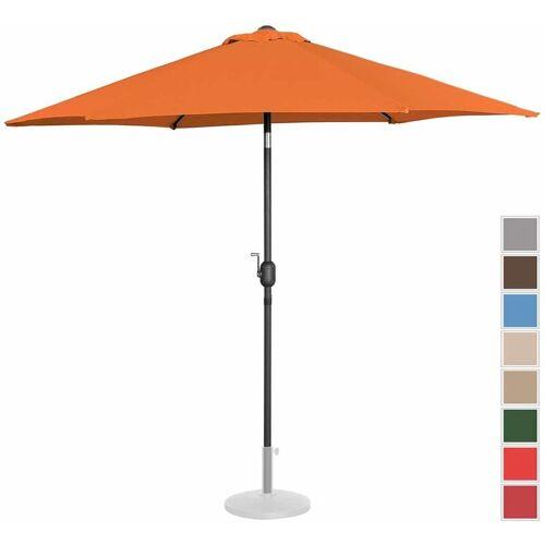 UNIPRODO Sonnenschirm Groß Sonnenschirm Terrasse Orange Sechseckig 270 Cm Neigbar