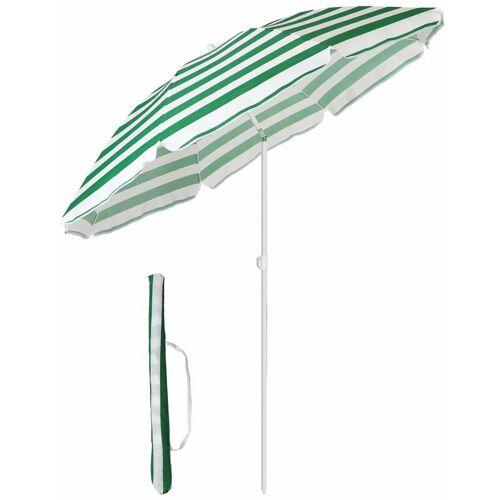 SEKEY Sonnenschirm mit Abdeckhauben 160 cm Marktschirm Gartenschirm