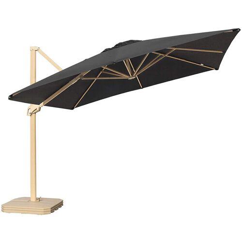 SEKEY Sonnenschirm Quadratisch Ampelschirm mit Aluminium-Mast und