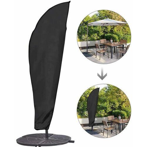 BEARSU Sonnenschirm Schutzhülle mit Stab, Sonnenschirm Abdeckung 2 bis 4 M