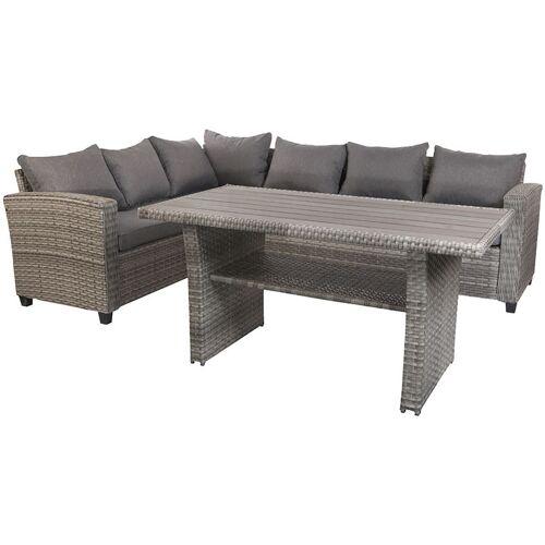 MOJAWO Terassen-Lounge Set LEON grau-MTLS02