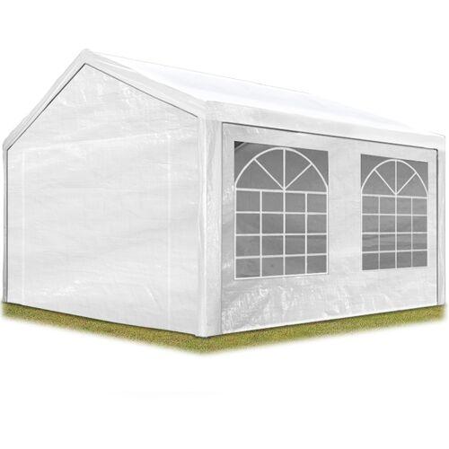Profizelt24 - TOOLPORT Partyzelt Pavillon 3x4 m in weiß 180 g/m² PE
