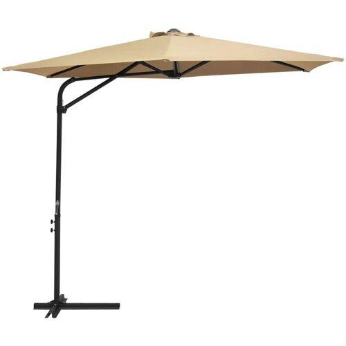VIDAXL Sonnenschirm mit Stahl-Mast 300cm Taupe