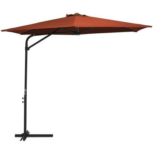 VIDAXL Sonnenschirm mit Stahl-Mast 300cm Terracotta-Rot