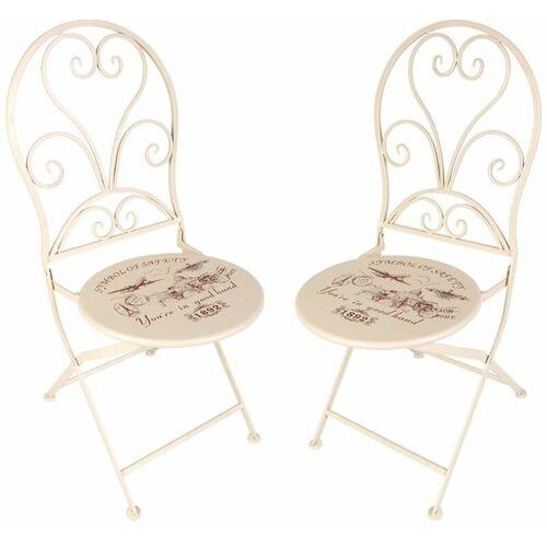 BURI Vintage-Stühle London 2er-Set Gartenstühle Klappstühle Balkonstuhl