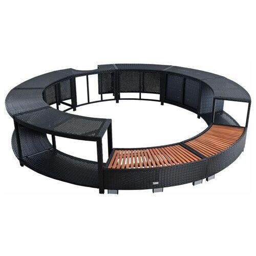 ESTEXO Whirlpool Umrandung Poolumrandung Poolverkleidung Rattan Rahmen Jacuzzi