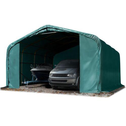 Profizelt24 - Wikinger Zeltgarage 6x6 m Lagerzelt Carport Torgröße